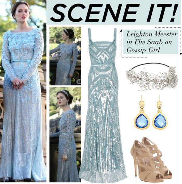 Scene It on Gossip Girl: Blair Waldorf\'s Blue Elie Saab Gown
