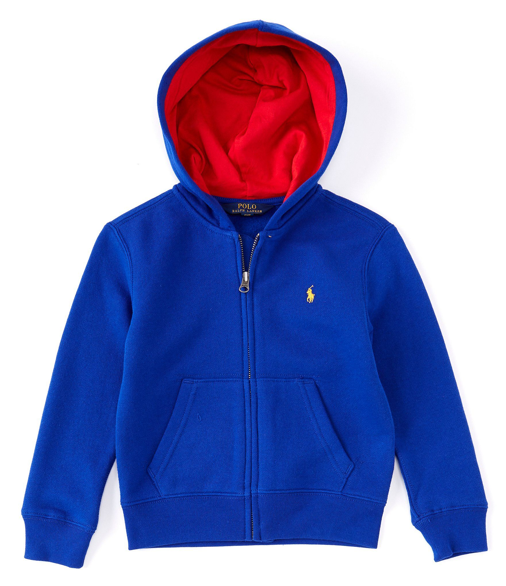 Polo Royal Blue Zip up Sweatshirt
