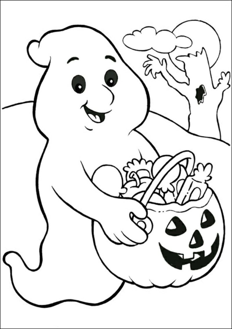 Halloween Ausmalbilder Kurbis Geist Halloween Coloring Pages