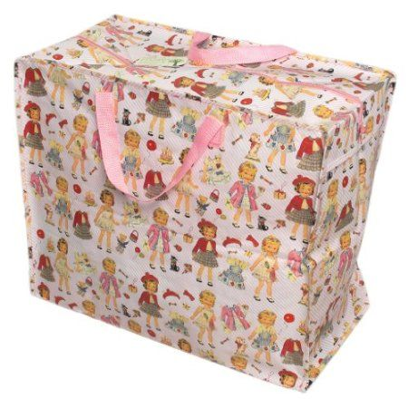 Dress Up Dolly Jumbo Bag Amazon Co Uk Kitchen Home Bag Storage