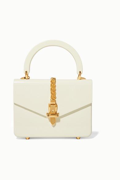 Gucci - Sylvie 1969 mini chain-embellished Plexiglas tote