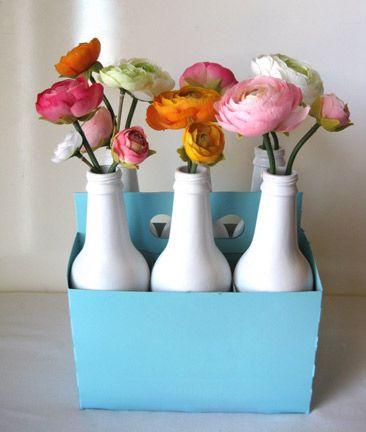 Spray Painted Soda Bottle Vases Diy Pinterest Soda Bottles