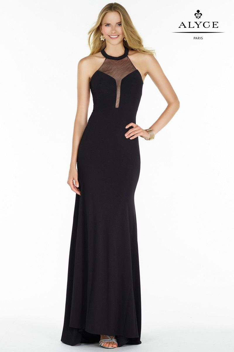 Dress Style Black HighNeck Prom Dress PROM