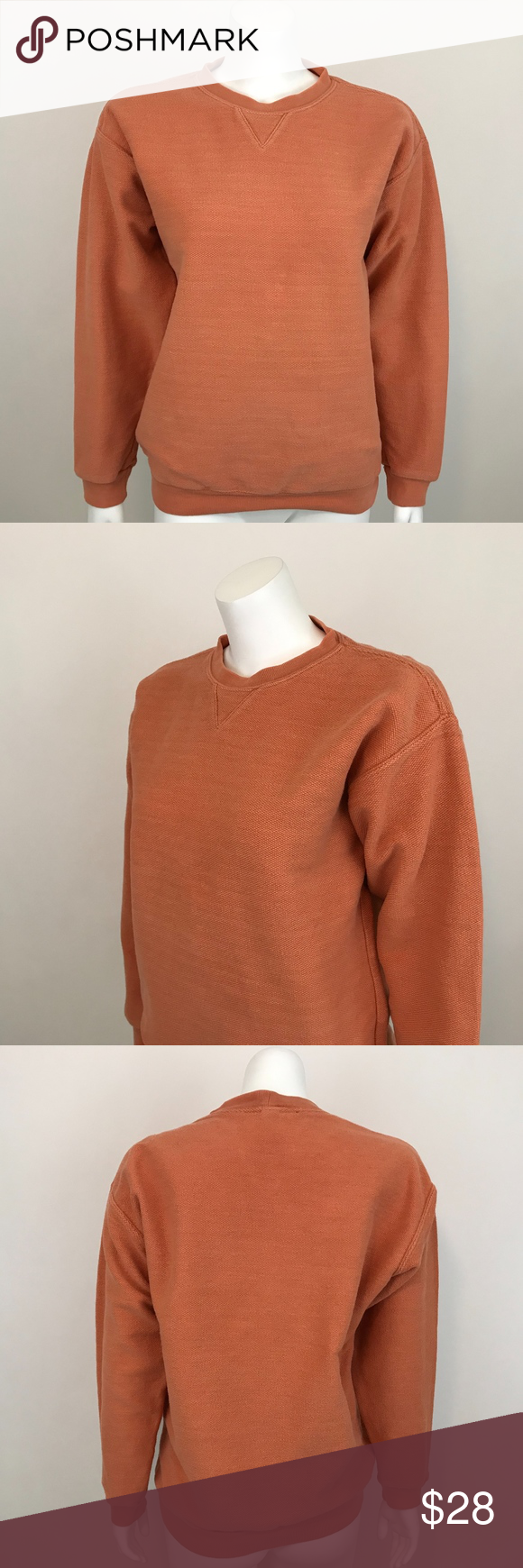 Lands End Crew Neck Textured Orange Sweatshirt S Lands End Sweatshirt Women S Size S 6 8 Orange L Sweatshirts Women Orange Sweatshirts Clothes Design [ 1740 x 580 Pixel ]