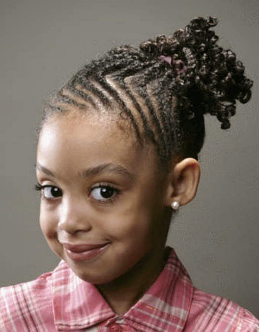 cute easy hairstyles for black children - a mother was very