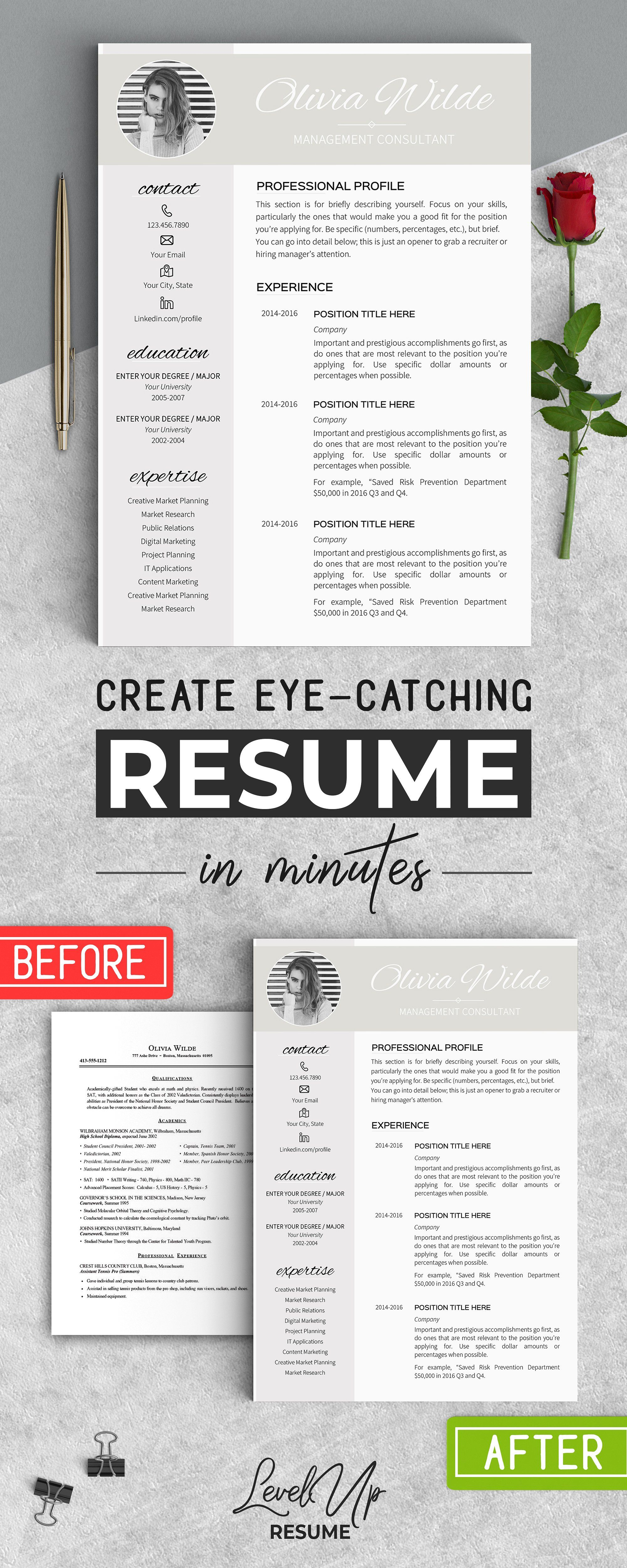 Resume Template for Word | Template, Resume writing and Resume cover ...