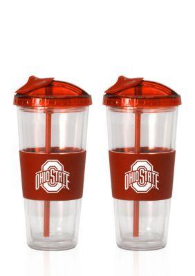 Boelter  22-oz. NCAA Ohio State Buckeyes 2-pack No Spill Straw Tumbler