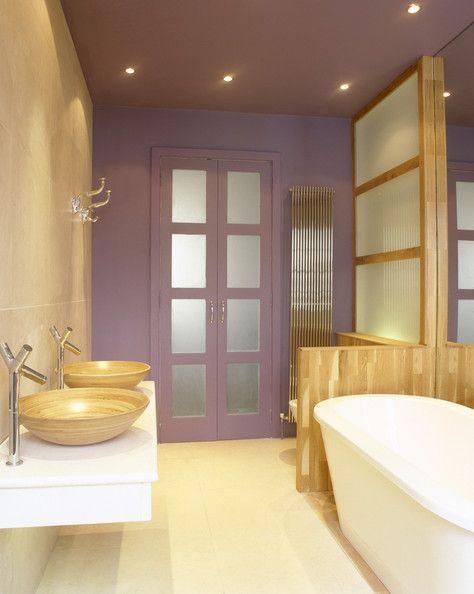 Purple Wood Gold Bathroom Decor Purple Bathroom Decor