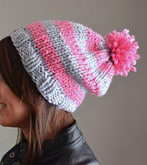 Sadie Stripe Slouch Hat