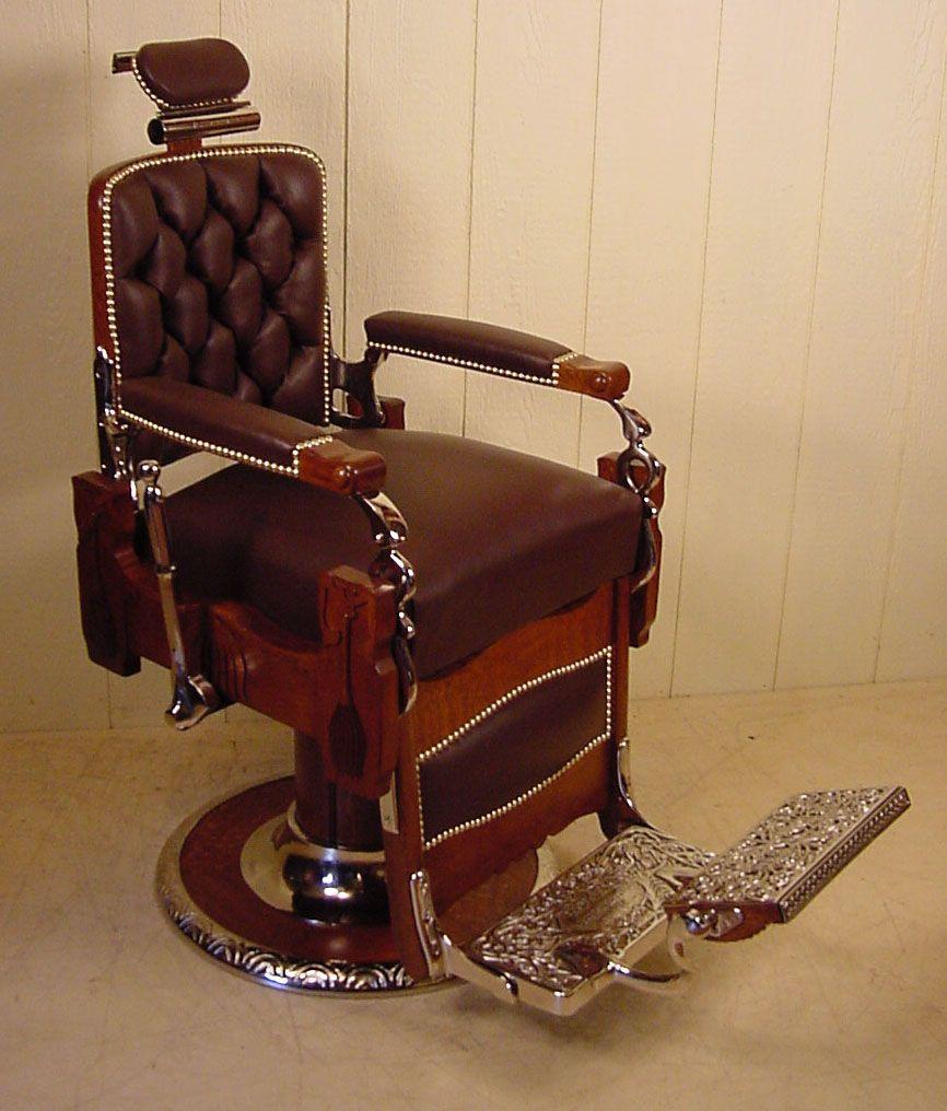 KOKEN Oak Barber Chair circa 1910 - KOKEN Oak Barber Chair Circa 1910 Barber Chairs Pinterest