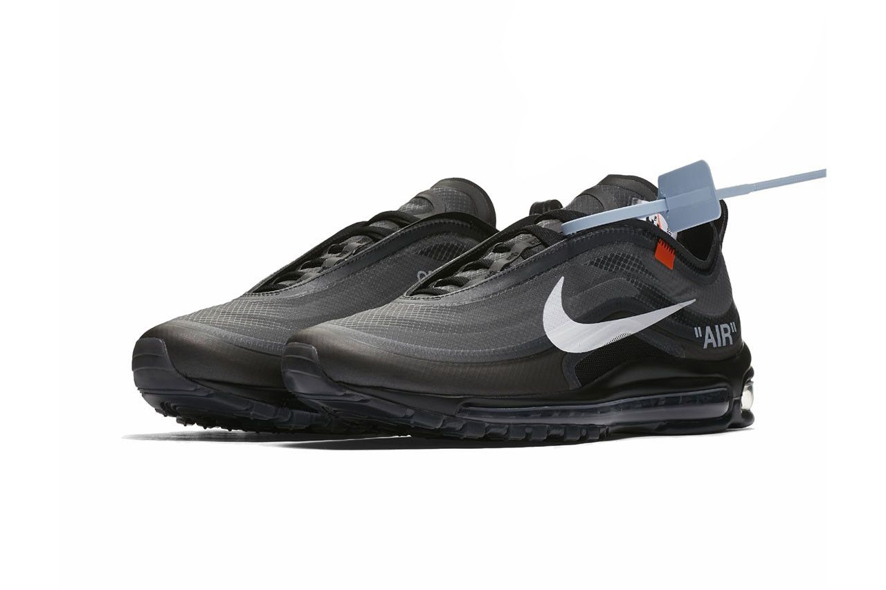 finest selection 69abe 177da off white nike air max 97 virgil abloh 2018 nike sportswear footwear black white  cone black