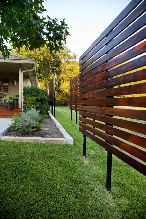 gartenzaun aus holz-paneele flexibel | Garten | Pinterest ...
