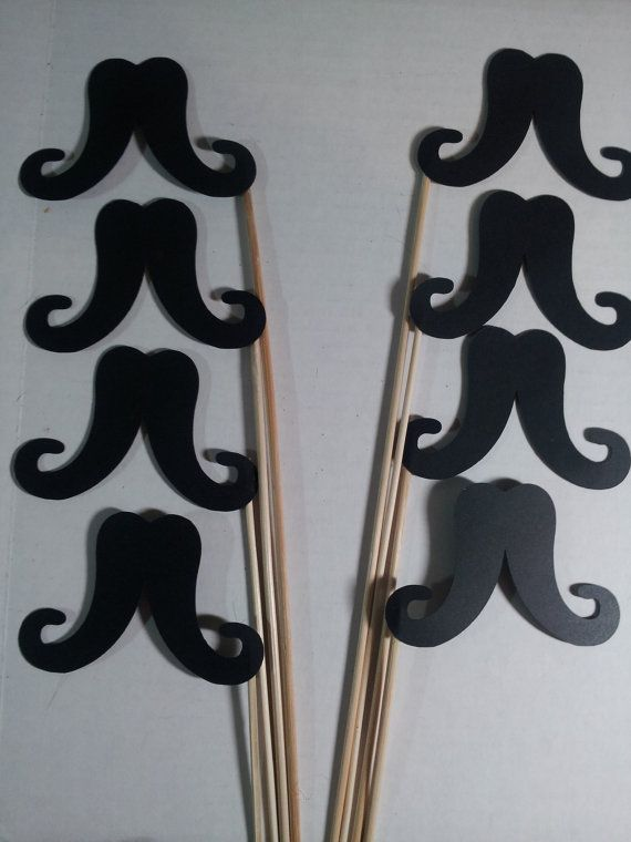 12 Mustache Photo Booth Props by CoriandoliLane on Etsy