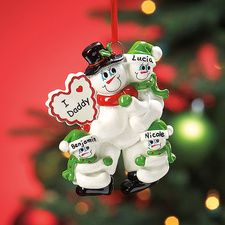 I  ♥  Daddy Ornament - personalize with your kid's names!