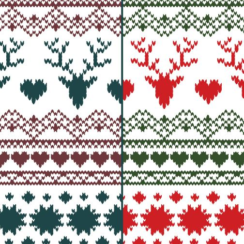 Thank you for the feedback on our new FairIsle Deer Heart colors ...