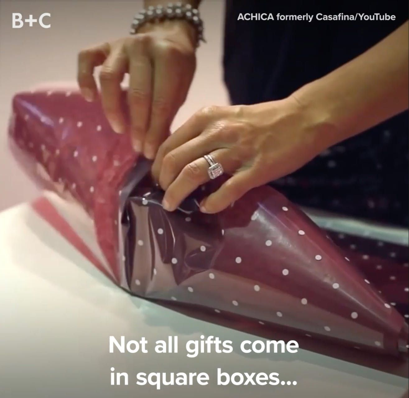 Watch These Pros Wrap Oddly Shaped Gifts Like It's Nobody's Business