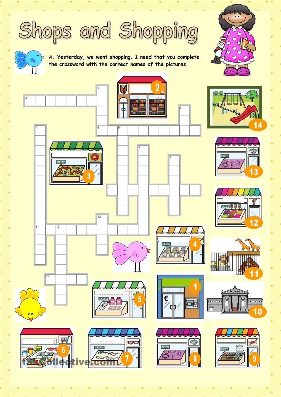 Workbooks shopping worksheets esl : Shops and Shopping | enkku | Pinterest | English, Worksheets and ...