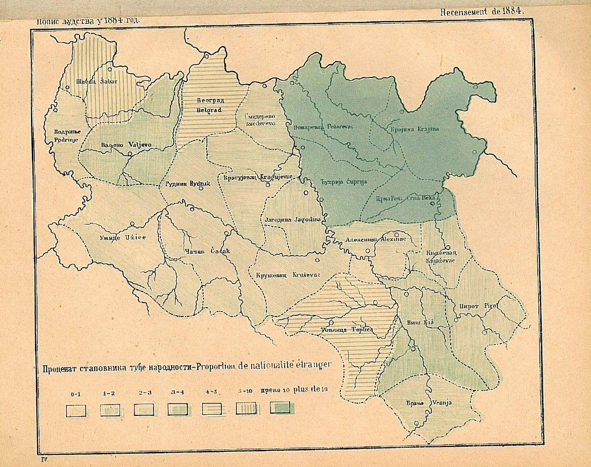 Harta Serbiei Proporția Minorităților Etnice După Recensămantul