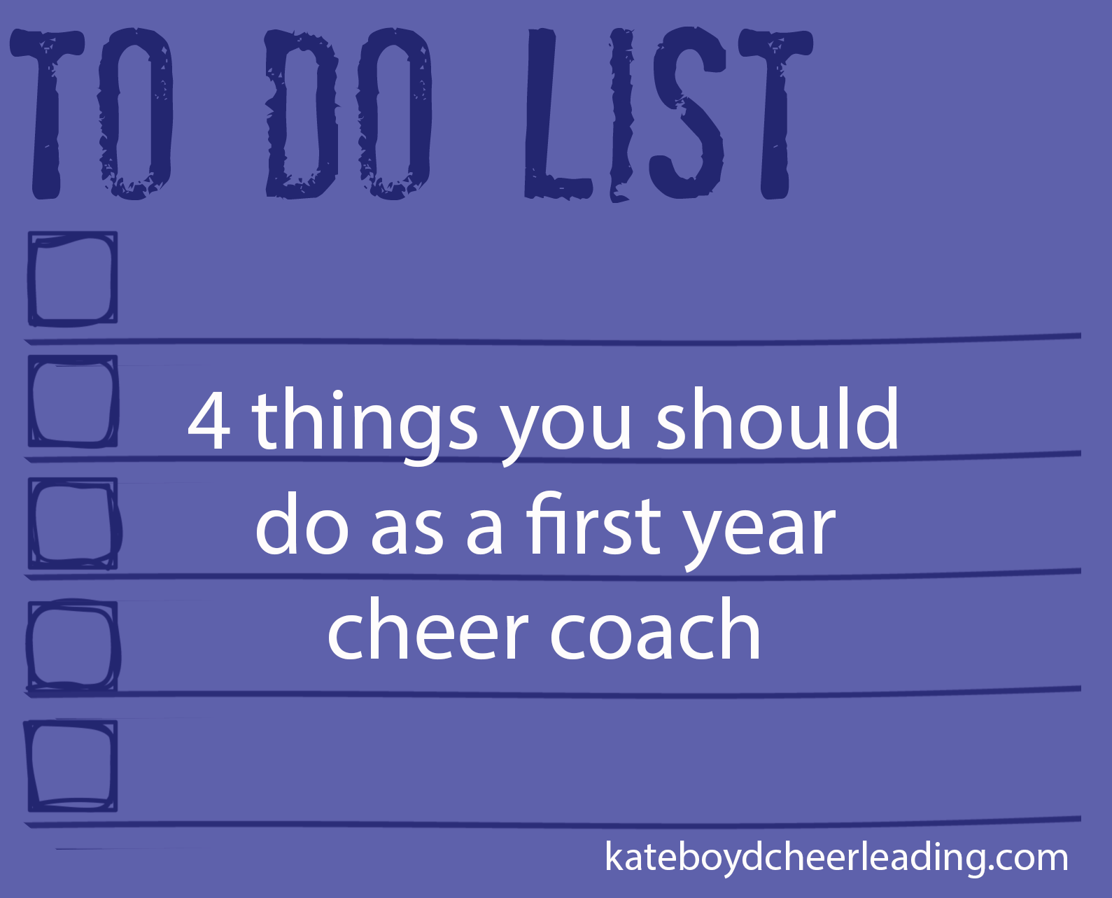 The CoachS Cheerleading Tryout Checklist  Kate Boyd Cheerleading