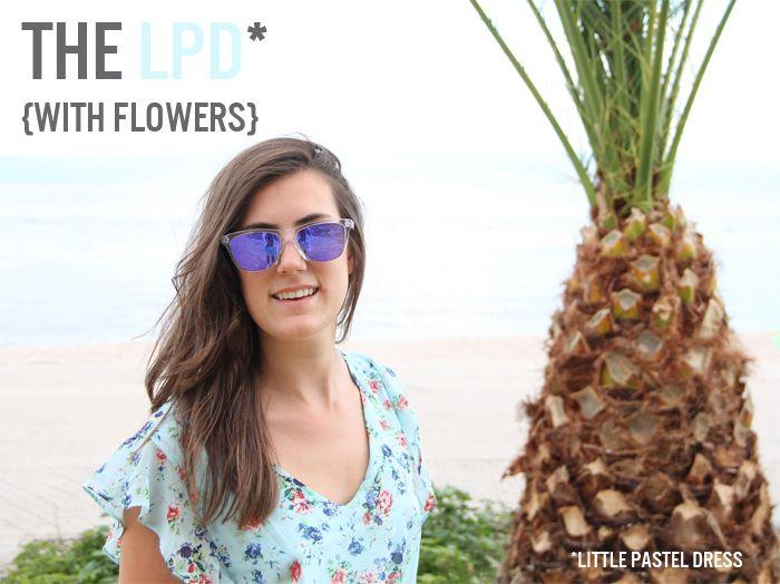 the LPD with-flowers | la petite robe pastel à fleurs http://thepastelproject.com/