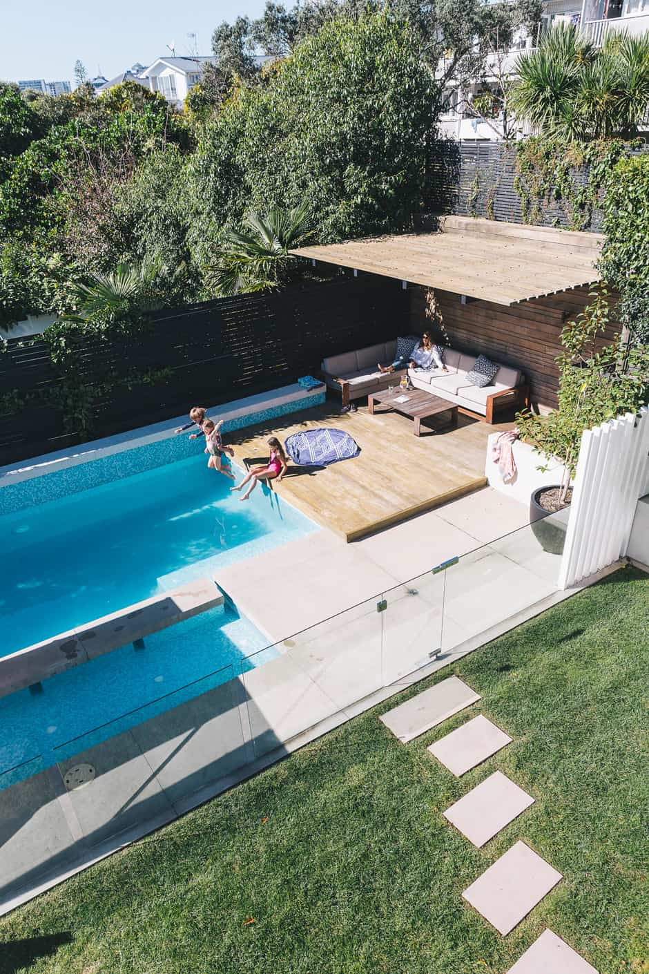 A Family Friendly Renovated Auckland Villa Is Striking Homestyle Duncan Innes Photographer Outdoor Pool Area Pool Gazebo Backyard Pool Landscaping