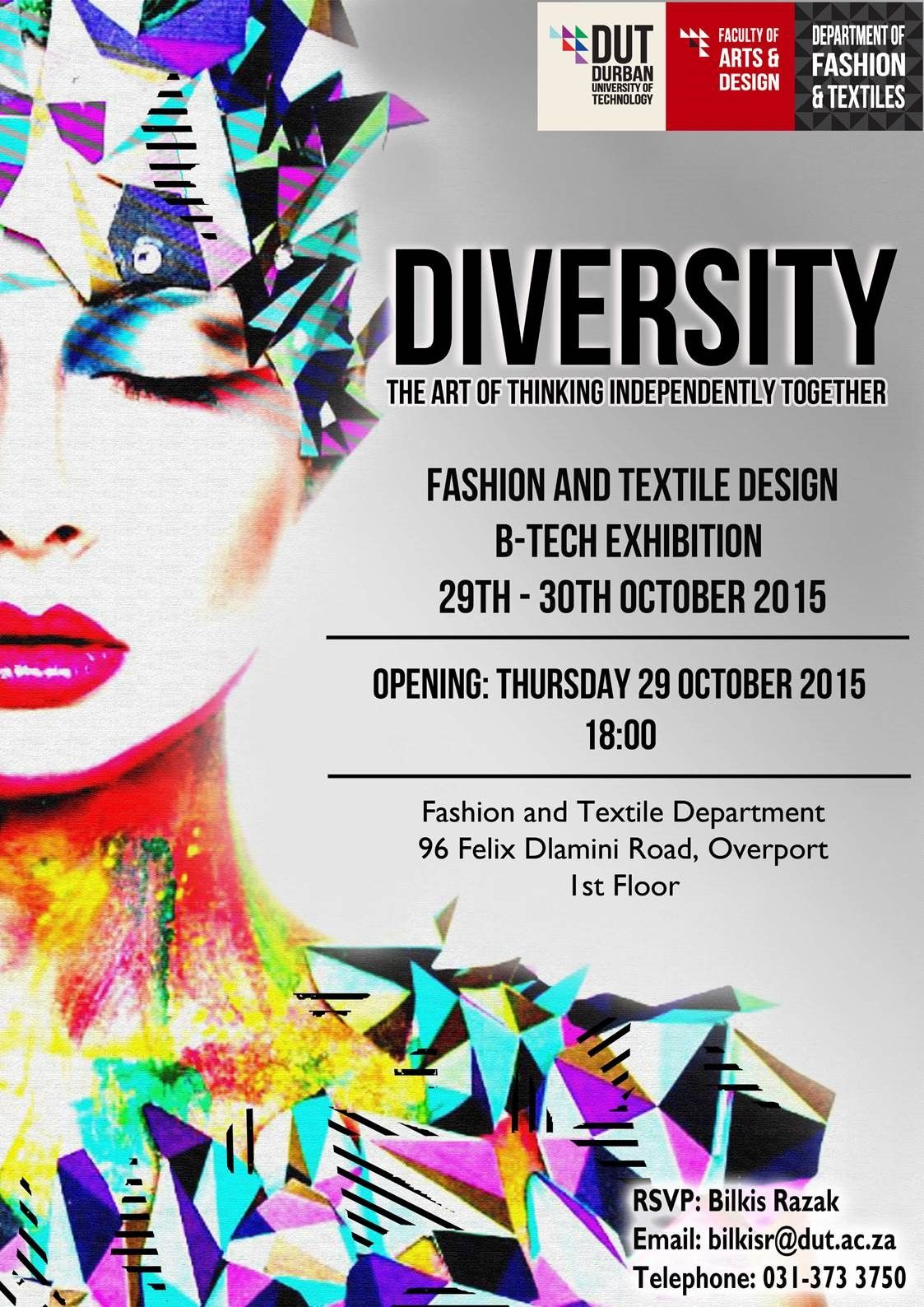 fashion and textile btech exhibition  event  poster