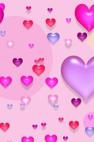 Love Heart Wallpaper For Mobile : cute-love-hearts-pink-purple-blue-mobile-wallpaper.jpg ...