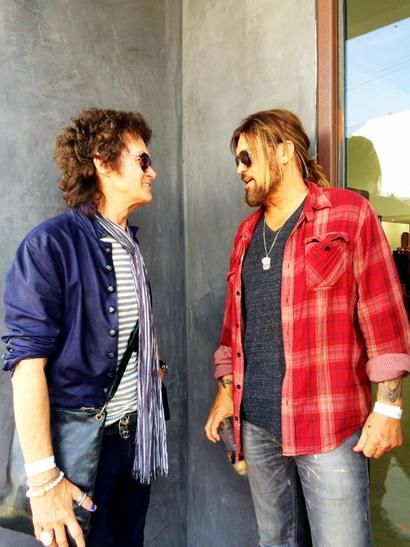 Yours Truly and my pal Billy Ray Cyrus. Rock & Country... All love