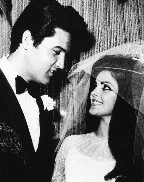Elvis Presley Priscilla Wedding Day GREAT Poster