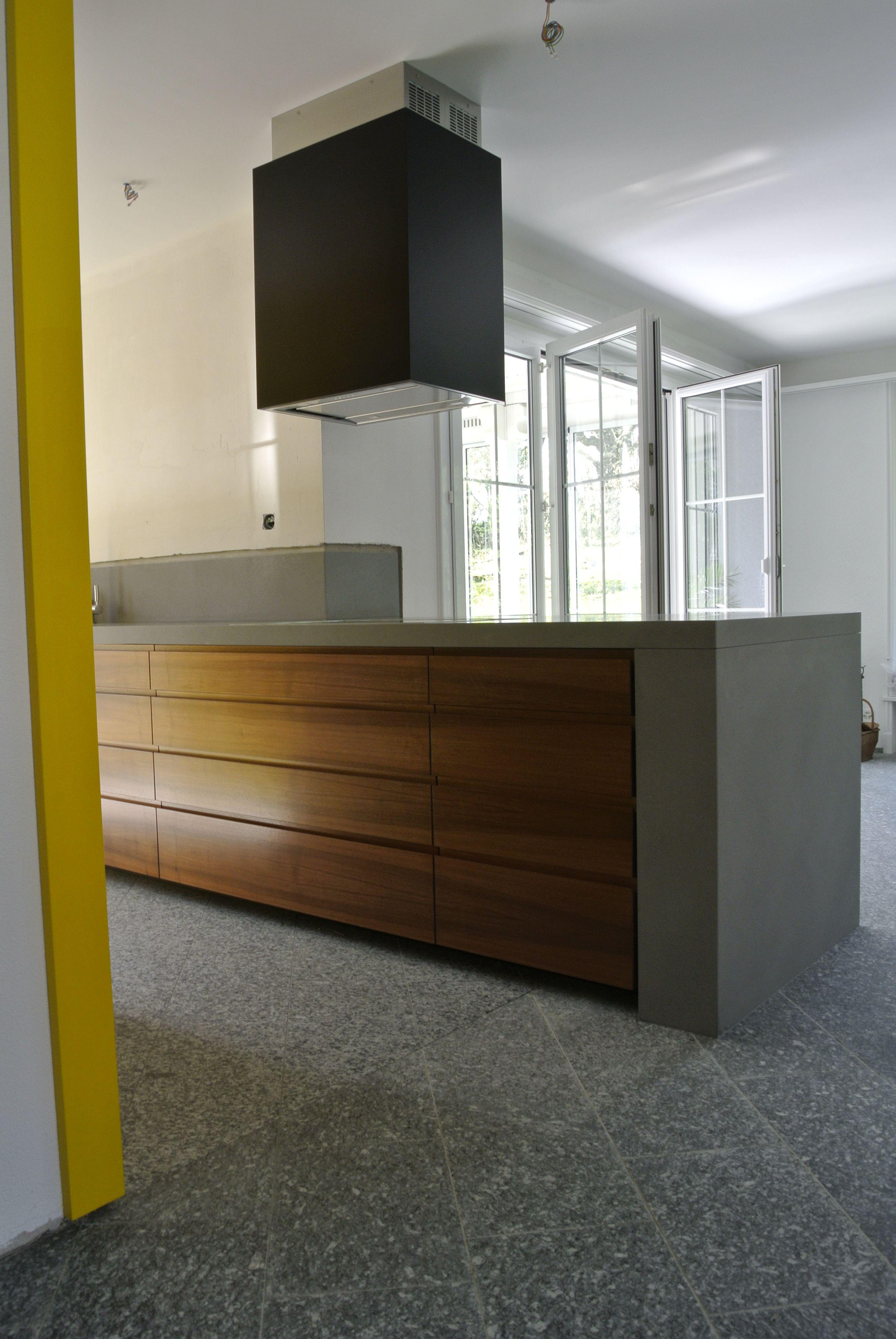 Cucina Moderna Noce Canaletto | Cucina Lineare Dal Design Moderno ...