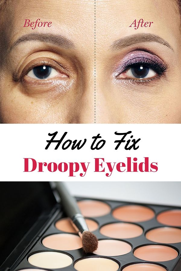 How to apply makeup for droopy eyes