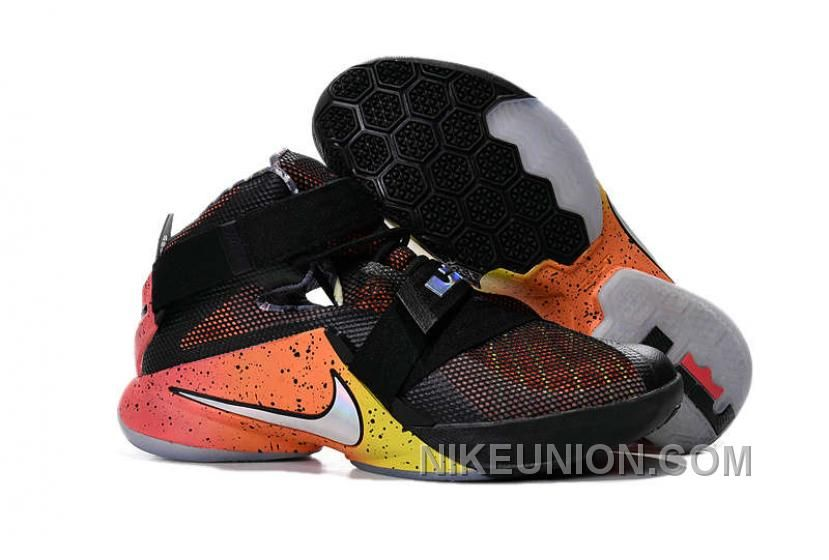 c131e6dcb26 Buy Nike LeBron Soldier 9 Basketball Shoes Black Orange Bright Crimson Pink  from Reliable Nike LeBron Soldier 9 Basketball Shoes Black Orange Bright  Crimson ...