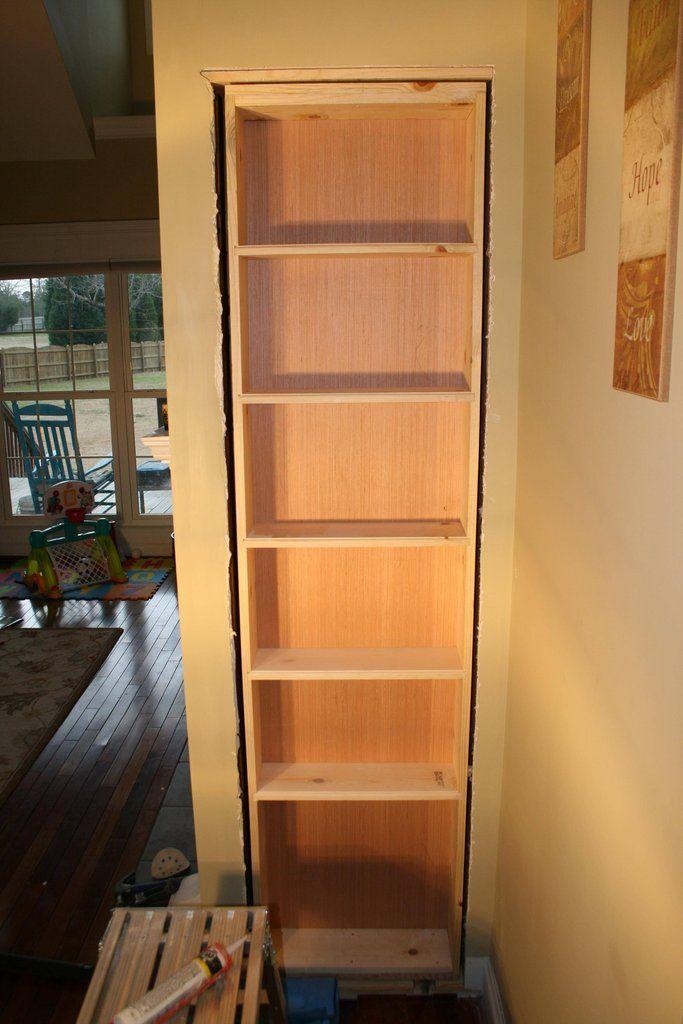 Build in Book case/hidden door   For My Home   Pinterest ...