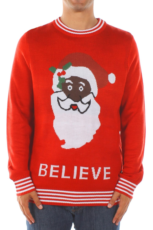 Men's Black Santa Sweater | Comfy casual