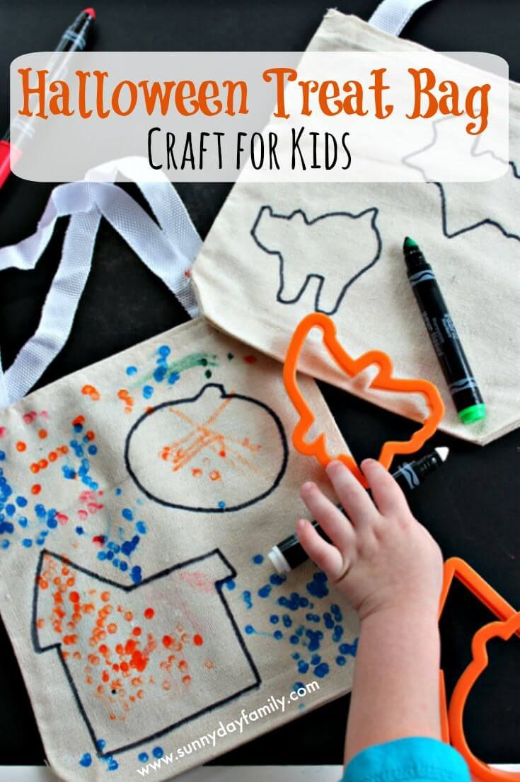Make Your Own Halloween Treat Bags Halloween Activity for - cute homemade halloween decorations