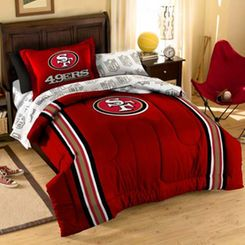 San Francisco 49ers Scarlet Five-Piece Twin Bedding Set