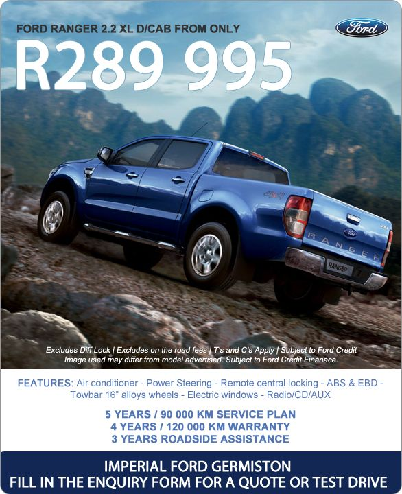 New Ford Ranger 2 2 Xl D Cab From R289 995 Features Include