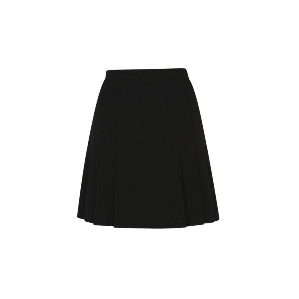 George Girls School Pleat Skirt (£6) ❤ liked on Polyvore featuring skirts, black, flare skirts, stretch skirts, flared skirt, pleated skirt and knee length pleated skirt