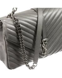 a8ace3c49653 Saint laurent Borsa Ysl Bo Mng College L Ginger Fi in Gray (Grey)