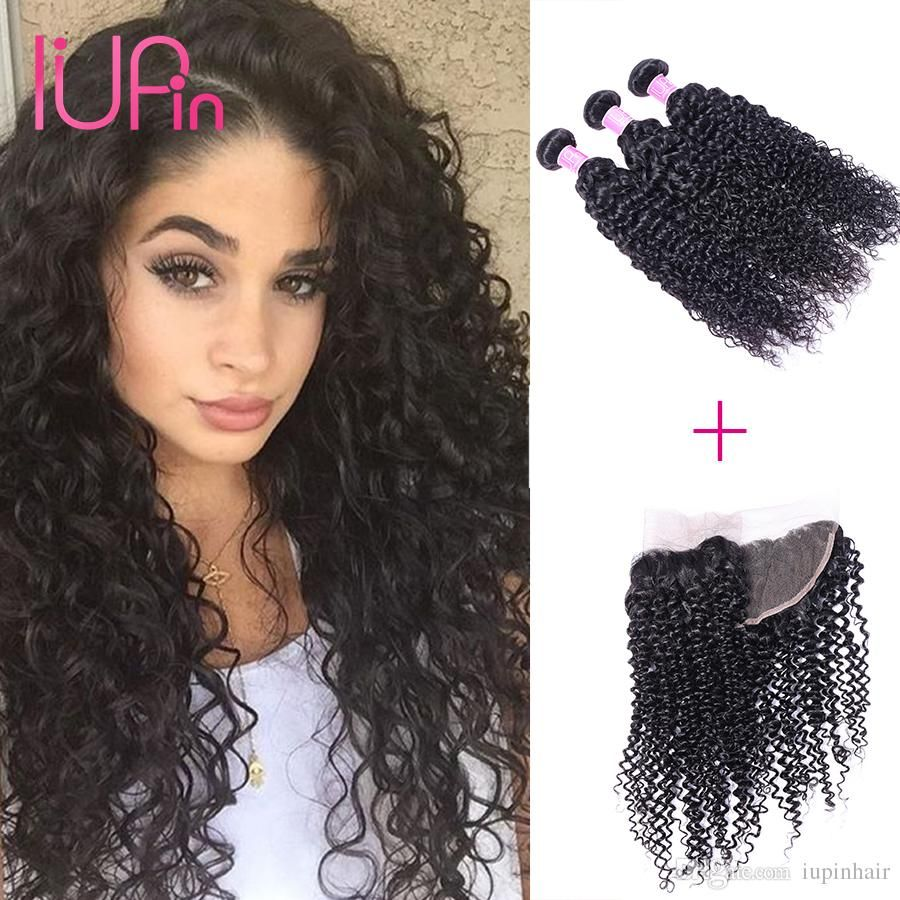 Iupin Brazilian Deep Wave Curly Unprocessed Hair Extensions Virgin