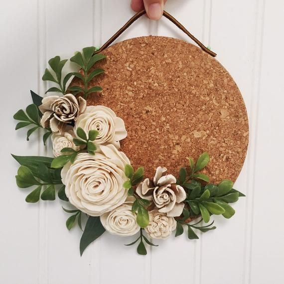 Photo of Boxwood and Floral Cork Wall Hanging
