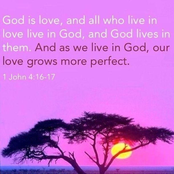 Image result for 1 John 4:16b-17
