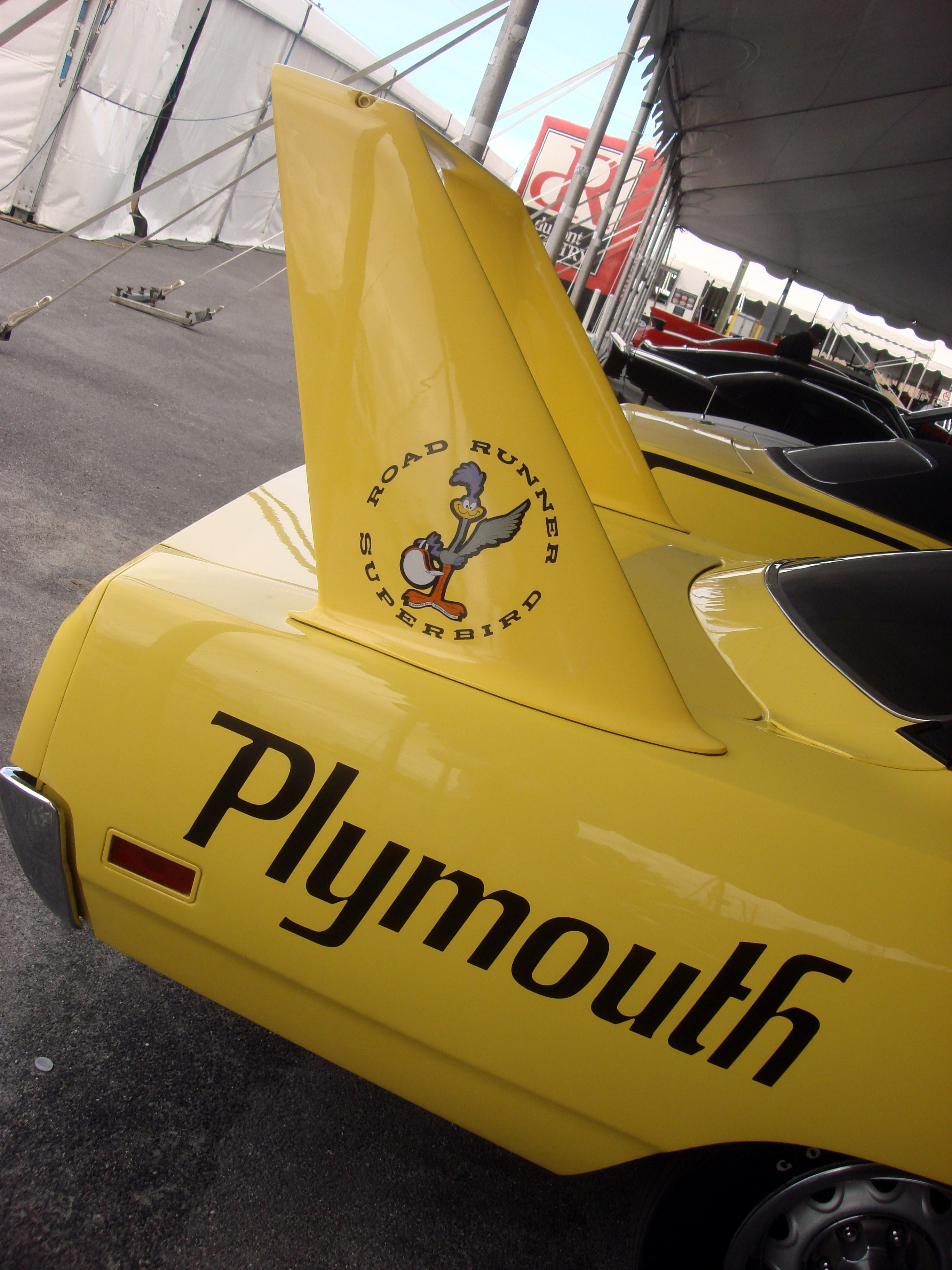 An other view of the 1970 plymouth superbird this sold