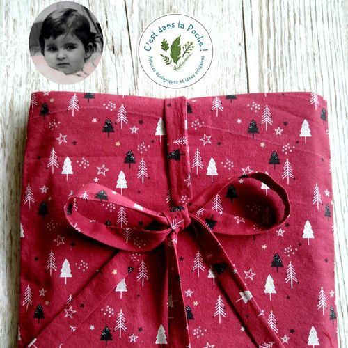 Pochette cadeau 'chantal et les sapins rouges'