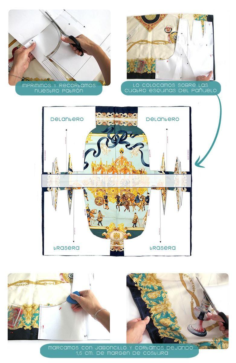 pantalon de pañuelo DIY 1 Cómo transformar un pañuelo en un short ...