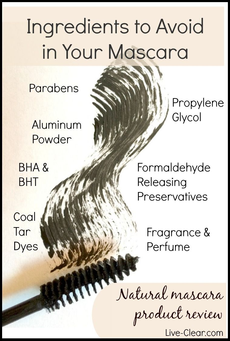8dd1138c584 Ingredients to avoid when choosing mascara. Conventional mascaras can be  filled with chemicals linked to health concerns. PIN this to know what to  avoid.