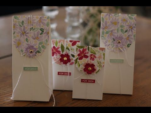 ???? Anleitung für Tüten in verschiedenen Größen mit Produkten von Stampin'Up! #cardkit