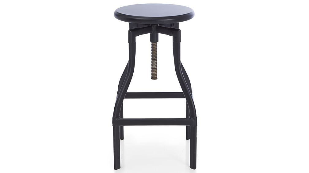 Miraculous Turner Black Adjustable Backless Bar Stool Home Pabps2019 Chair Design Images Pabps2019Com