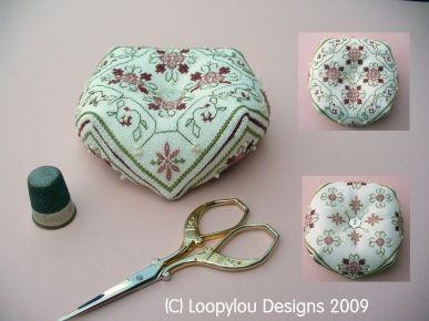Daisy May Biscornu Embroidery Chart