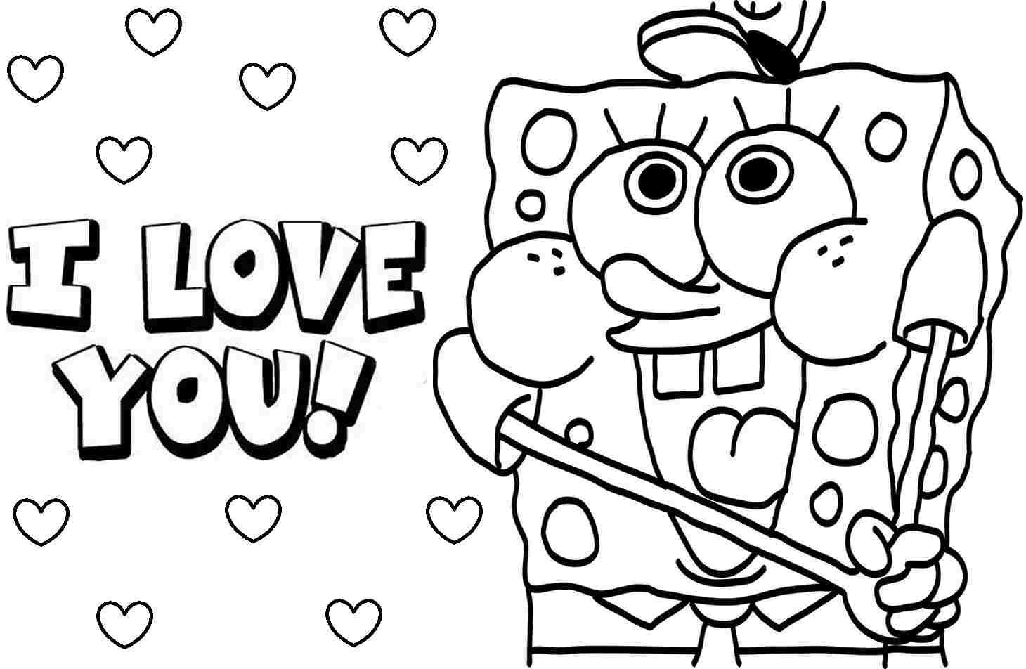 Printable Spongebob Coloring Pages Ideas Free Coloring Sheets Printable Valentines Coloring Pages Coloring Pages For Teenagers Valentines Day Coloring Page